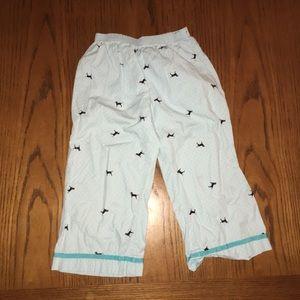 Girls Black Dog Capri pajama pants size 8/10